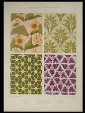TENTURES ART NOUVEAU -1901- LITHOGRAPHIE, HERBINIER, FLEURS RENONCULE ANEMONE