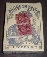 NEW REPRODUCTION L I COHEN NY HIGHLANDERS POKER PLAYING CARDS CIVIL WAR