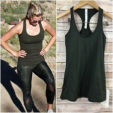❤NWT Lululemon Cool Racerback Tank Luxtreme 4 XS Gator Green Top Speed CRB Small