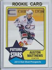 2015 Auston Matthews Hot Shot Prospects Future Stars Rookie Card RC Mint