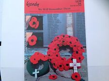 WENDY POPPY WREATH KNITTING PATTERN 5870 DOUBLE KNIT AND CROCHET REMEMBRANCE