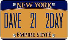 Novelty Number Plate, Personalsed Fun American New York Licence Plate