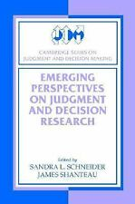 Cambridge Series on Judgment and Decision Making: Emerging Perspectives on...