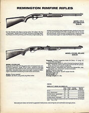 1987 REMINGTON Model 572A Fieldmaster & 572 BDL Deluxe Rimfire Rifle AD