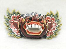 New Wooden Barong Mask Hand Carved Hand Painted Wood Bali Wall Decor Art #N1792