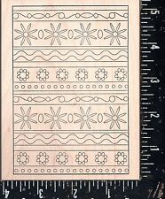 Outlines Rubber Stamp Co. Wood Mounted Rubber Stamp Swatch Rickrack Backgr NEW!!