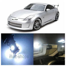 9Pcs  Xenon White LED Light Interior Package Kit for 2003-2008 Nissan 350Z