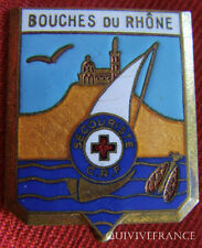 IN5436 - INSIGNE Croix Rouge Française, Secouriste BOUCHES DU RHONE