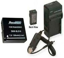 Battery + Charger for Panasonic DMW-BLD10E DMWBLD10E