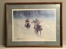 Carlos Hadaway Heading Home Trapper Ltd. Ed. Signed Numbered Framed Western Art