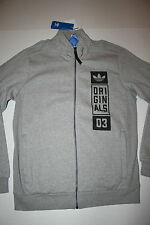 Adidas Originals Street Graphic Track Top AJ7681 Men's US Medium (M) Gray/Black