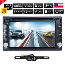 2 Din In Dash GPS Car DVD Player Bluetooth SD Auto Stereo Radio RDS iPod TV USA