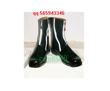 Final Fantasy Cloud Strife Black Cosplay Boots S008