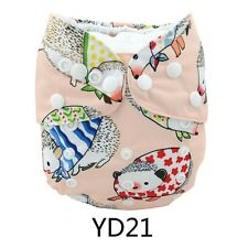 NEW AlvaBaby Cute Print One size Washable Reusable Cloth Diaper Nappy+1Insert