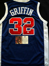BLAKE GRIFFIN SIGNED/ AUTOGRAPHED LA CLIPPERS AWAY BLUE JERSEY GAI COA NWT