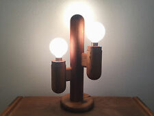 CACTUS WOOD TABLE LAMP VINTAGE MID CENTURY MODERN EAMES DANISH MODLINE ERA