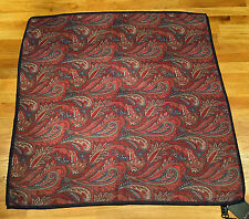Paul Smith Floral Paisley Wool & Silk Scarf Made in Italy 63cm x 63cm