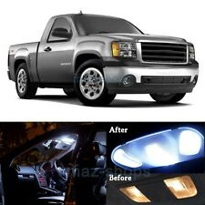 14Pcs Xenon White Interior LED Lights Package Kit for 2007-2014 GMC Sierra  MP