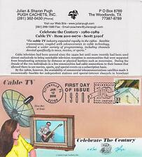 2000 PUGH CACHETS HAND PAINTED FIRST DAY COVER CELEBRATE CENTURY - CABLE T.V.