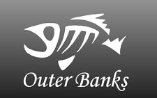 Outer Banks Fishing Window Sticker Decal