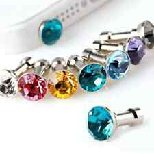 Lot20PCS Shinning Rhinestone Mobile Phone Dustproof Plug For 3.5 MM Headset Hole