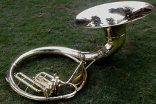 "Qlty Sousaphone Shinning Brass 20"" Bell Bb ""Chopra"" 3V  Bag n M/PIECE"