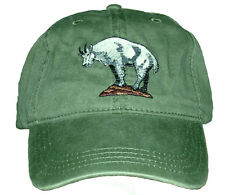 Rocky Mountain Goat  Embroidered Cotton Cap NEW Hat Wildlife