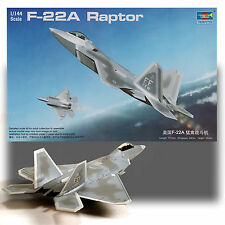 TRUMPETER 1/144 F-22A RAPTOR KIT *DECALS FOR 5 AIRCRAFT INCLUDED