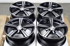 14 4x100 Black Effect Rims Fits Protege Mini Cooper Aveo Rio Yaris 4 Lug Wheels