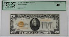 1928 $20 Dollar Gold Certificate Star Note Fr. 2402* Pcgs Ef-40 *Scarce*