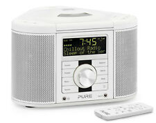Pure Chronos CD Series 2 DAB/FM/CD Stereo Alarm Clock Radio White With Remote