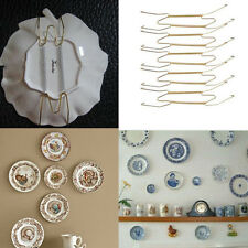 "20 PCS 8-Inch Wall Display 7.5"" to 9.5"" Plate Dish Hangers Holder For Home Decor"
