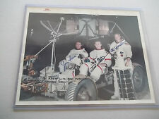 Apollo 15 Vintage NASA Red # Autographed Crew Photo - Uncommon