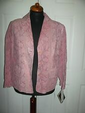 Pink Snakeprint Leather Jacket by Terry Lewis Luxury Coll. - Size PL -  NWT