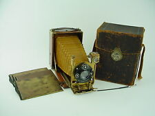 Kenngott Phonix 9x12 Tropical camera w/12cm Laack rathenow Lens, Case & Plates