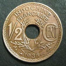 INDOCHINE 1/2 CENT. LINDAUER 1938 - Bronze