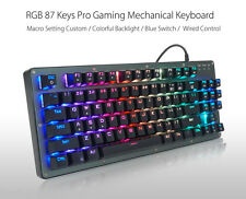 BYLINK RGB 87 Keys Professional Metal Base Blue-Axis Mechanical Gaming Keyboard