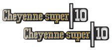 NEW Cheyenne Super 10 Fender Emblem PAIR / FOR 1973-76 CHEVY TRUCK SUBURBAN 9775