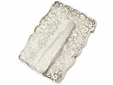Sterling Silver Card Case by Cronin & Wheeler - Antique Victorian