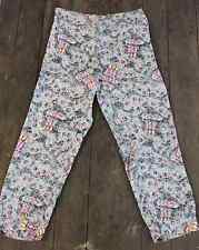 Awesome! Excellent Condition Vintage 1940's Rayon Print COLUMBIA Pajama Pants-L