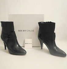 STUNNING Womens Ladies SEE BY CHLOE PATENT LEATHER Ankle Boots EU 40 / SIZE UK 7