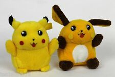 PIKACHU & RAICHU Pokemon Bandai Friends Evolution Soft Plush Figure Set Lot