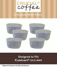 6PK Cuisinart CHW-12 CoffeePlus Replacement Water Filter Replaces DCC-RWF-1