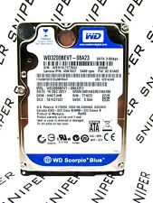 Western Digital 320GB WD3200BEVT-08A23T1 SATA Laptop Hard Drive WIPED&TESTED!