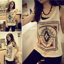 One Size Women's Summer Vest Top Sleeveless Blouse Casual Tank Tops T-Shirts