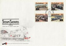 ZIMBABWE :1985 Steam Safaris   et SG 653-6 on illustrated First Day Cover