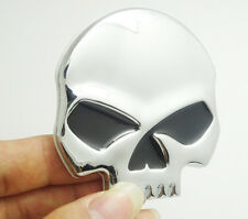 3D Skull Bone Metal Emblem Badge Decals Sticker Car Motor Bike   tm   9
