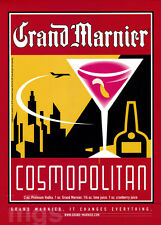 Grand Marnier 1-page clipping ad Oct 2000 art Cosmopolitan