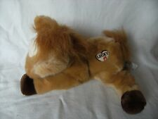 """LUCKY Flopsies   Pony/Horse Plush Soft Toy with noise from AURORA with tags 12"""""""