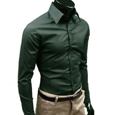 Men Stylish Slim Long Sleeve Shirt Business Work Smart Formal Casual Dress Shirt